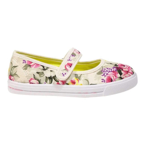 Girls Shoes Printed With Flowers