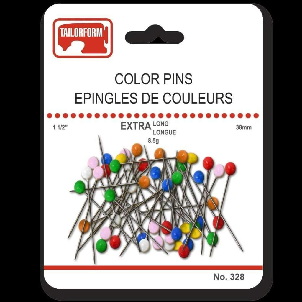 Coloured Head  Pins Extra Long