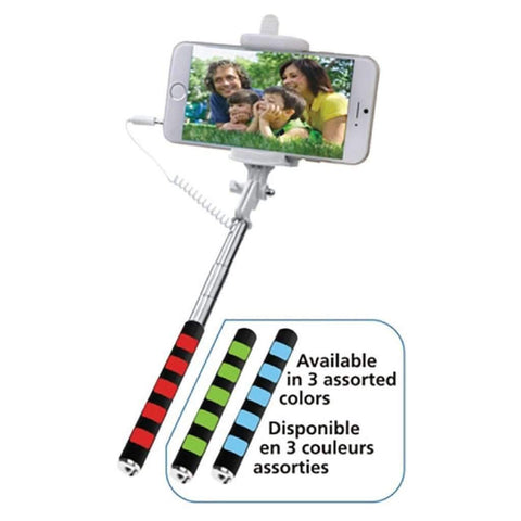 Wired Extendable Selfie Stick With Built In Shutter Button