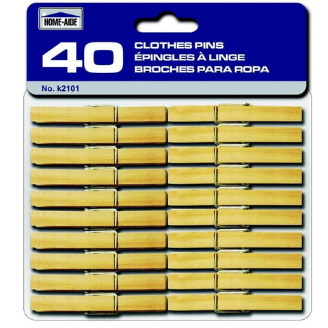 Clothes Pins 40 Wood