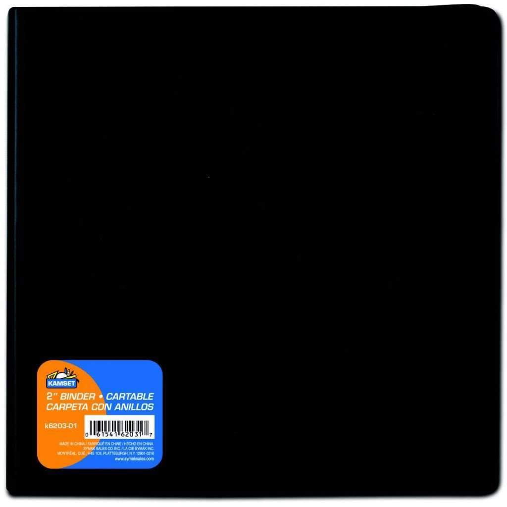 2 Inches Binder - Black
