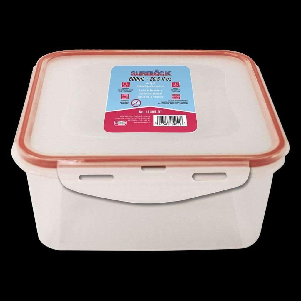 Surelock Food Container Square 600ml
