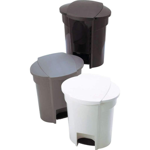 Spring Top White Garbage Can