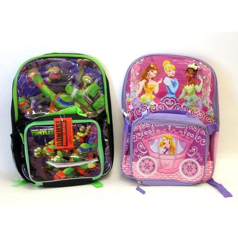Child's Back Pack & Lunch Box, Assorted Colors & Prints
