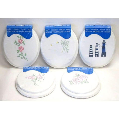 Soft Cushion Embroidered Toilet Seat