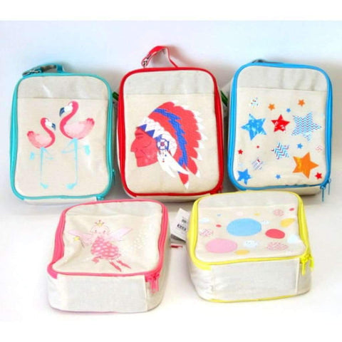 One Size Insulated Lunch Bags, Assorted Colors & Prints