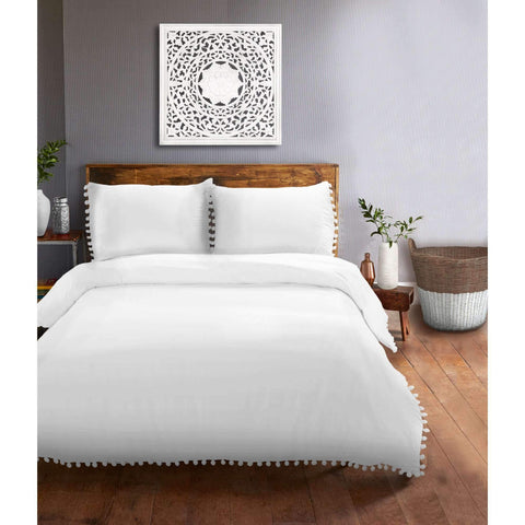 Easton Duvet Cover Set White