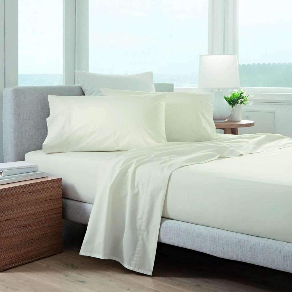 220 Thread Count Cotton Sheet Set - Off White