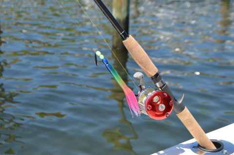 "LIMITED EDITION - Reverse Rainbow 6"" Fluke Rig - With Bait Holder Hook"