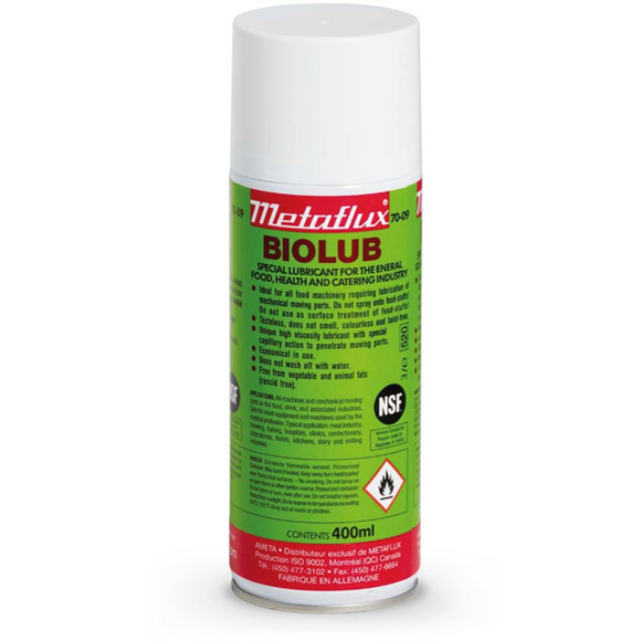 NSF lubricant, Metaflux 70-09 Biolub Spray