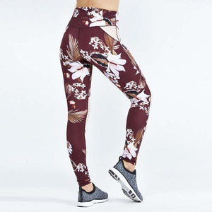 BURGUNDY Knee Panel Leggings