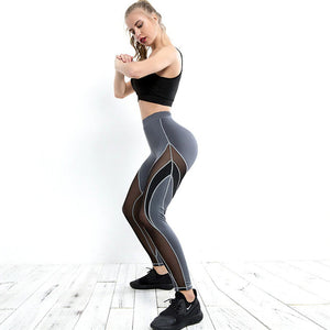 ARROW Mesh Patchwork Leggings