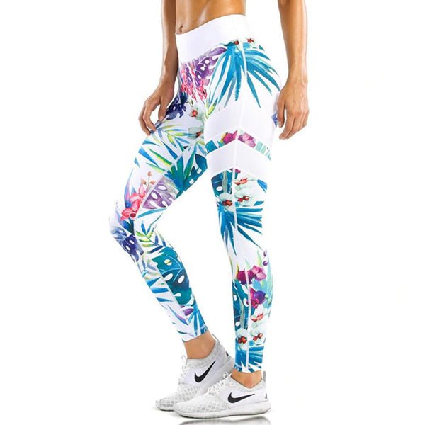 EXOTICA Blue Floral Print Leggings