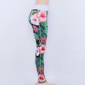EXOTICA Green Floral Print Leggings