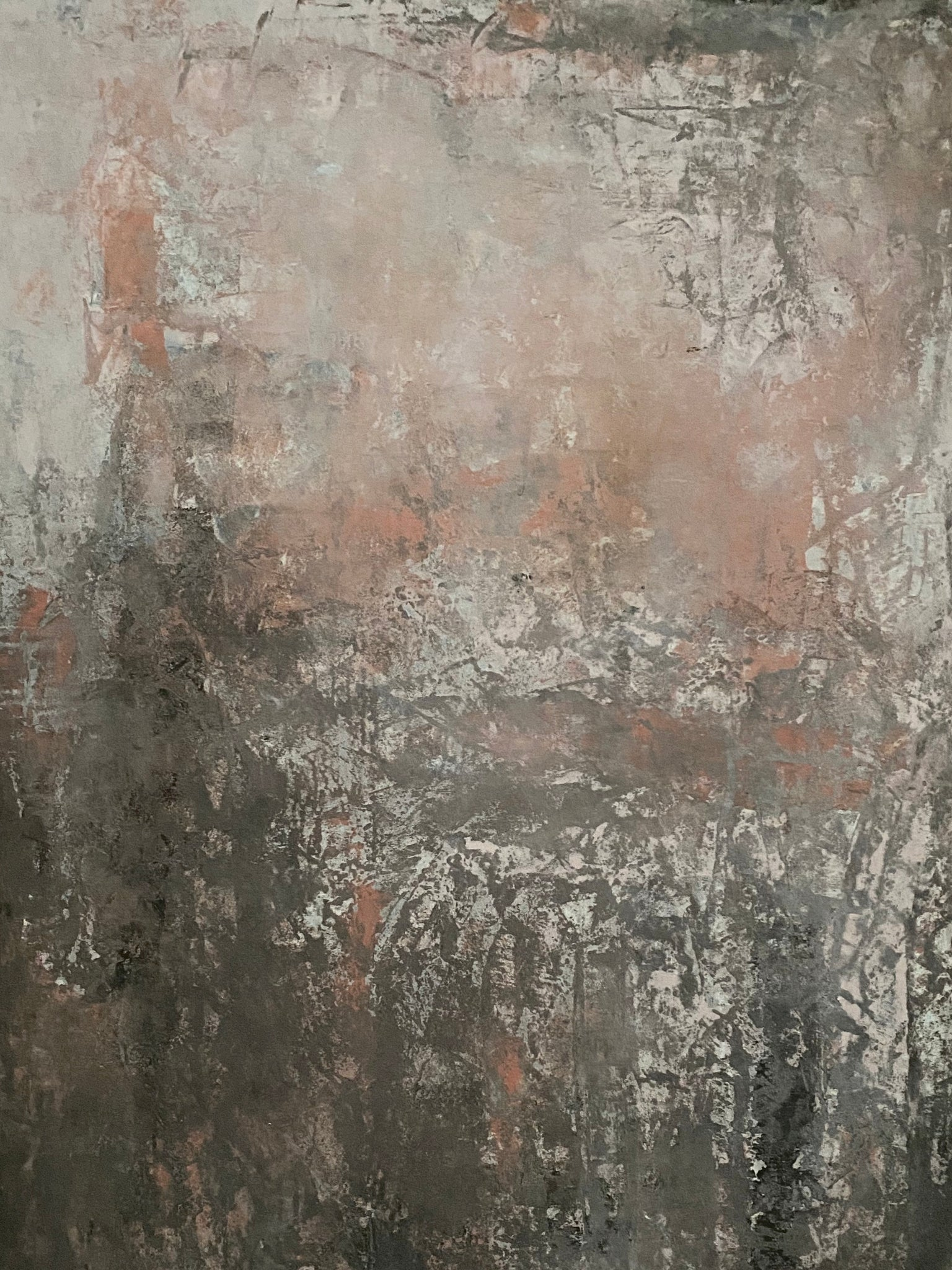 Brown and orange okker 80x120 cm
