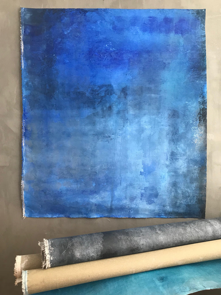 Canvas Blue art 100x100 cm