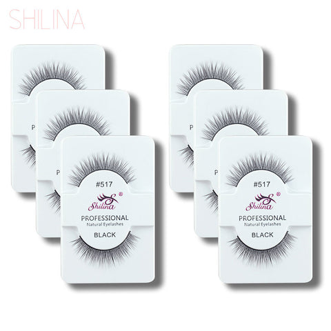 6 Pairs - False Eyelashes Soft Natural Long Eyelashes
