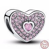 925 Sterling Silver - Pink Heart Charm