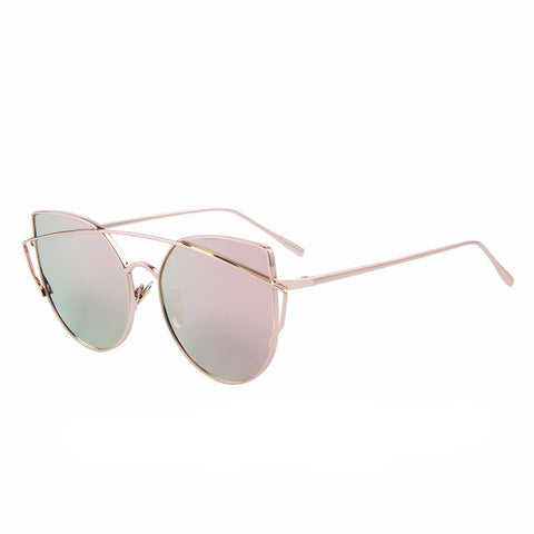Women's Cat Eye Polarized Mirror Sunglasses - UV400
