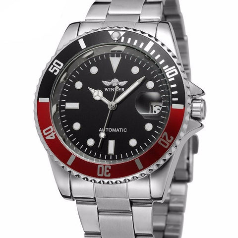Mens Automatic Watch With Magnifying Date