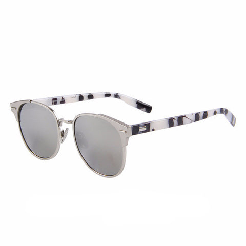 Women's Retro Rivet Mirror Sunglasses - UV400