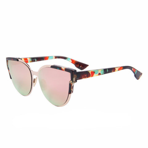 Women's Cat Eye Mirror Sunglasses - Retro Wayfarer -UV400