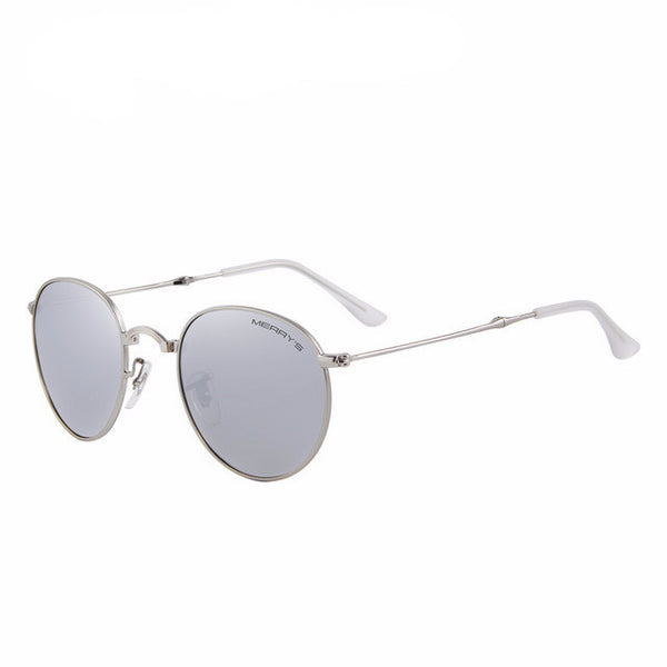 Women's Retro Foldable Mirror Sunglasses - UV400