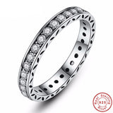 925 Sterling Silver - Luxury Womens Silver Ring