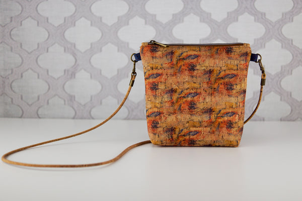 Lighten the Load Cork Bag in Brush Strokes