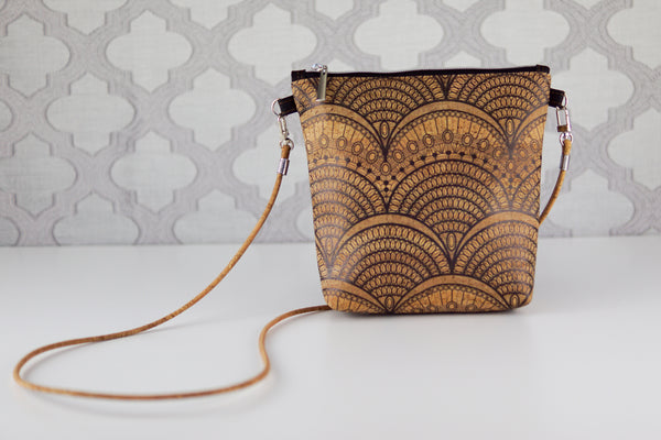 Lighten the Load Cork Bag in Art Deco