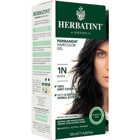 Herbatint Permanent Hair Color Gel 1N Black
