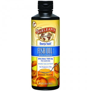 Barlean's Fish Oil Mango Peach Swirl 16oz