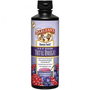 Barlean's Total Omega 3-6-9 Vegan Pomegranate & Blueberry Swirl 16oz