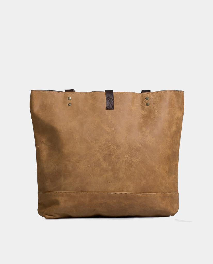 Totebag Mañío Leather Series Camel