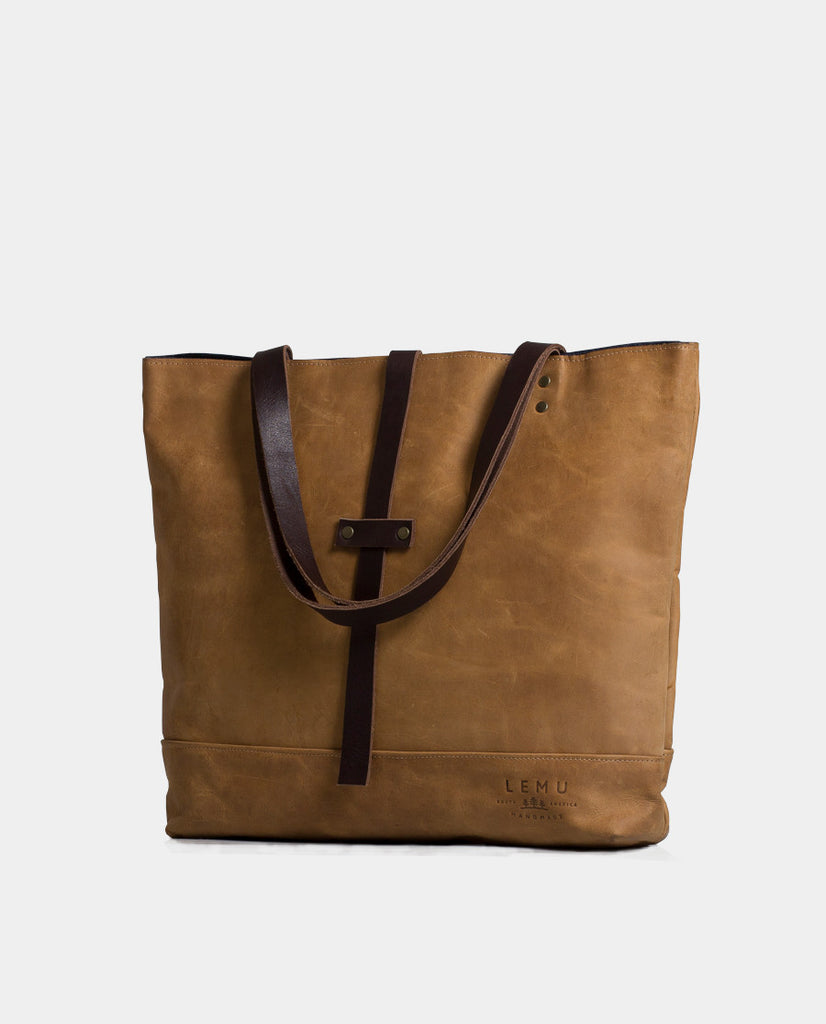 Totebag Mañío Leather Series Camel - Totebag - LEMU HANDMADE