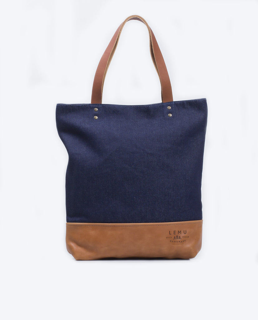 Totebag Notru Basic Series Denim Caramelo