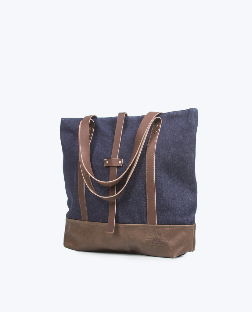 Totebag Ulmo Basic Series Denim Moro - Totebag - LEMU HANDMADE