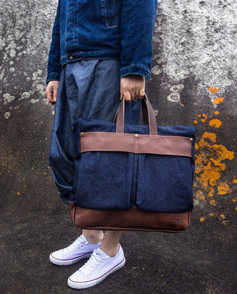 Traveller Acun Basic Series Denim Moro - Bolso - LEMU HANDMADE