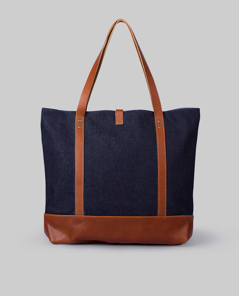 Totebag Ulmo Basic Series Denim Caramelo