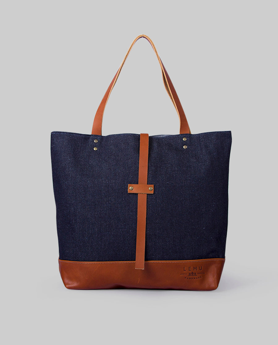 Totebag Mañío Basic Series Denim Caramelo