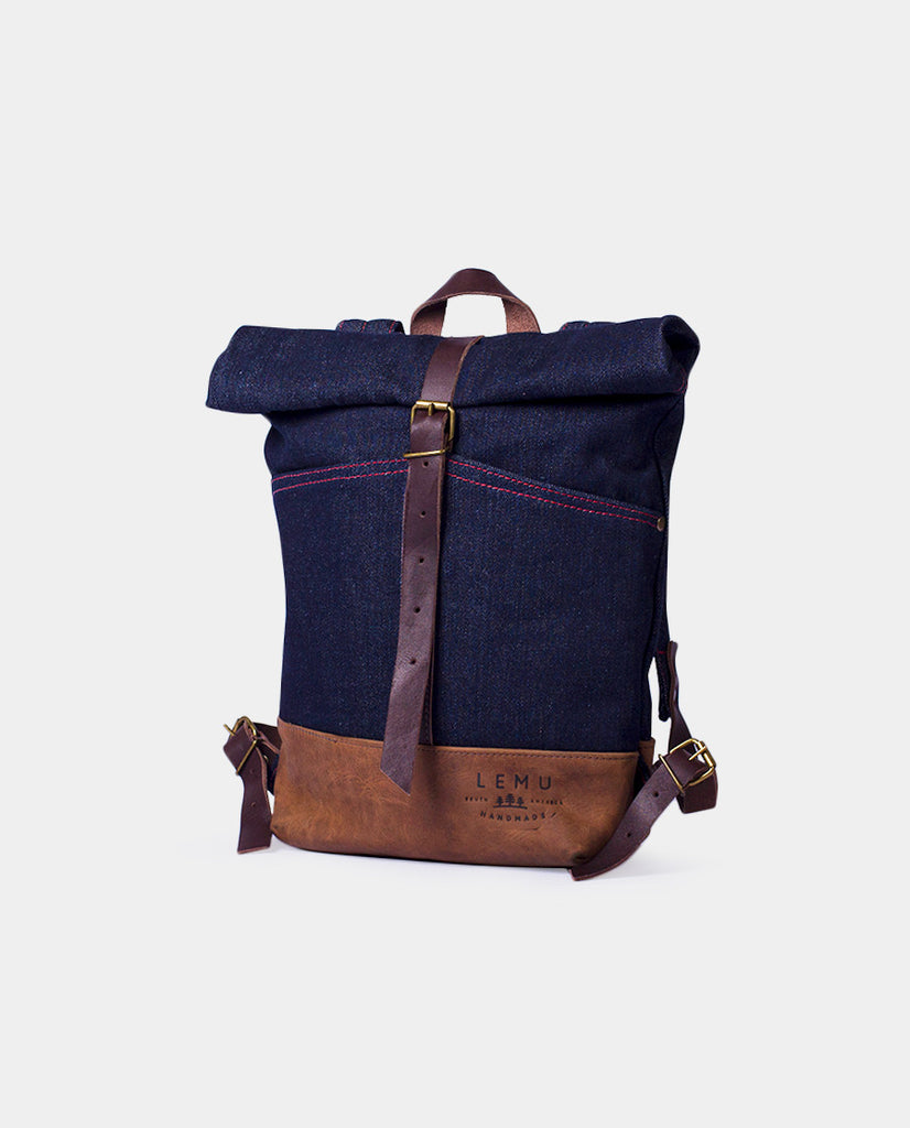 Rucksack Mahuida Mini Basic Series Denim Moro - Mochila Mini - LEMU HANDMADE