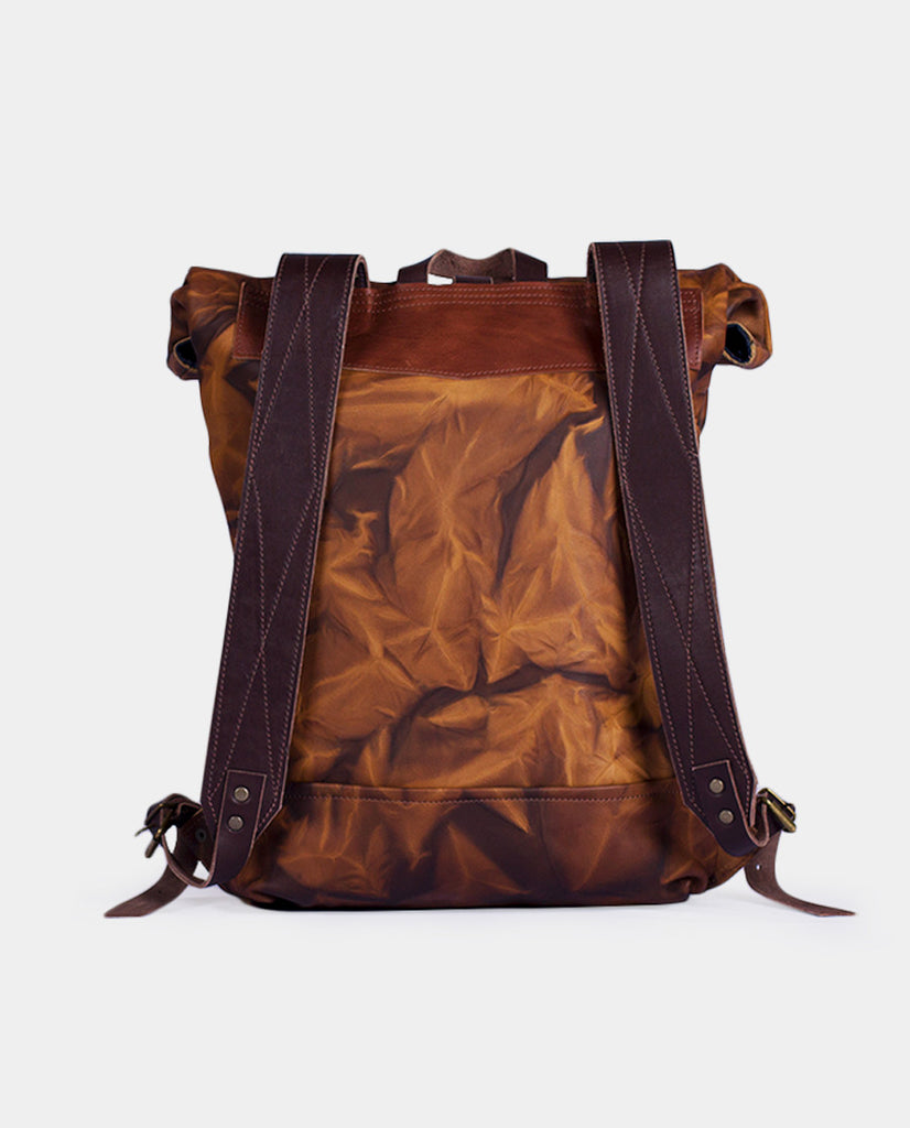 Rucksack Mahuida Leather Series Roca - Mochila Enrollable - LEMU HANDMADE