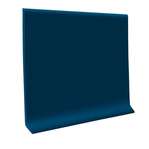 700 Series Deep Navy 4 in x 1/8 in Roppe® Thermoplastic Rubber (TPR) Wall Base