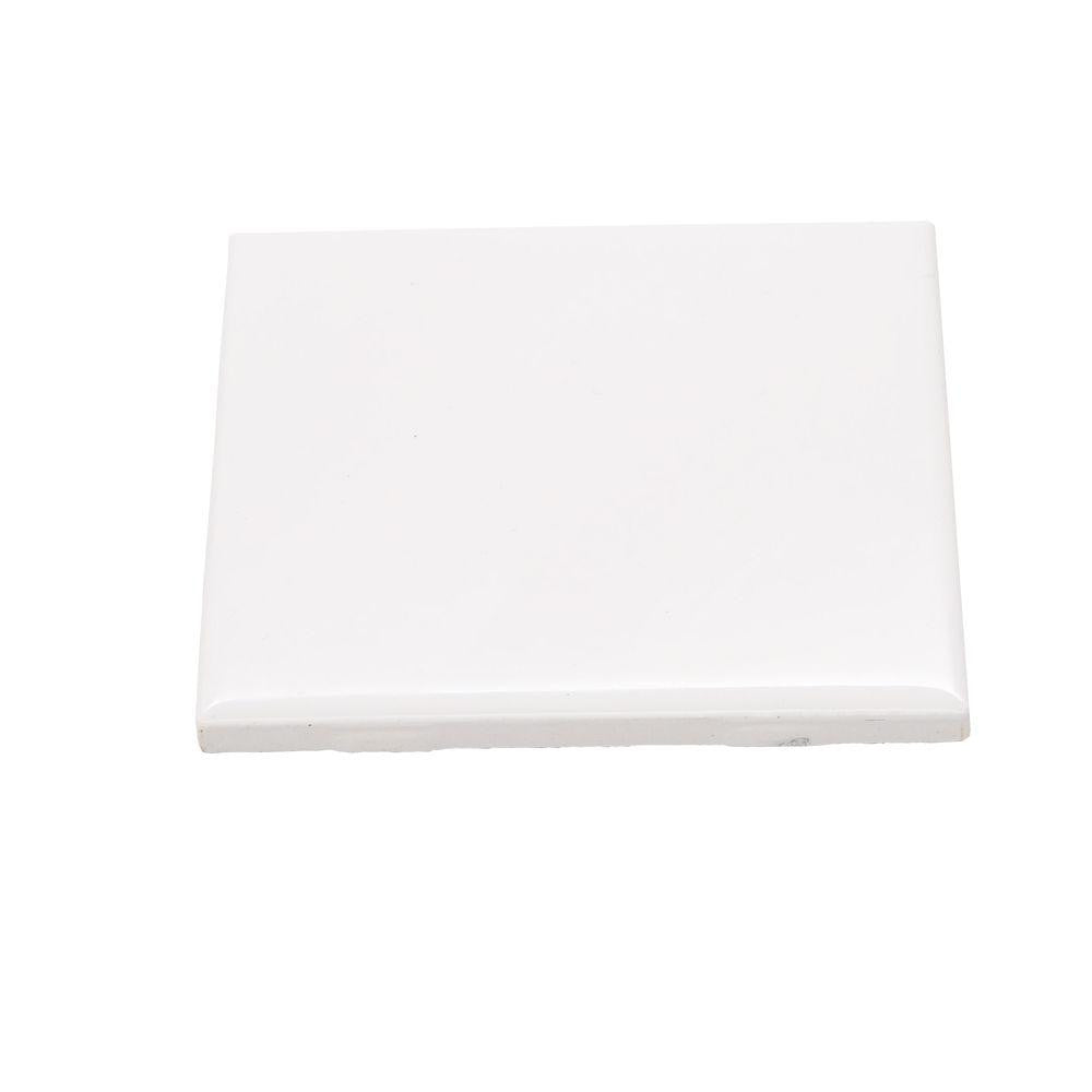 "Ceramic Tile 4-1/4""X4-1/4"" White"