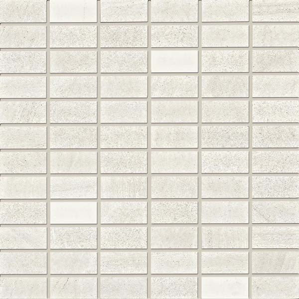"Floor/Wall Mosaic Tile Palermo 1""x2"" Whiterstone"
