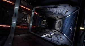 Screenshot showing an empty space station - Deliver Us The Moon