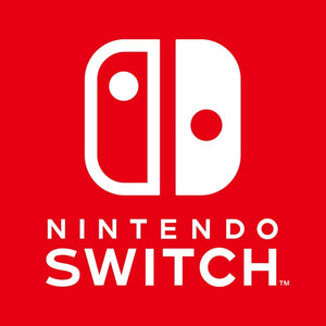 Nintendo Switch logo on red background