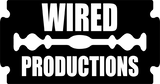Wired productions razor logo in black