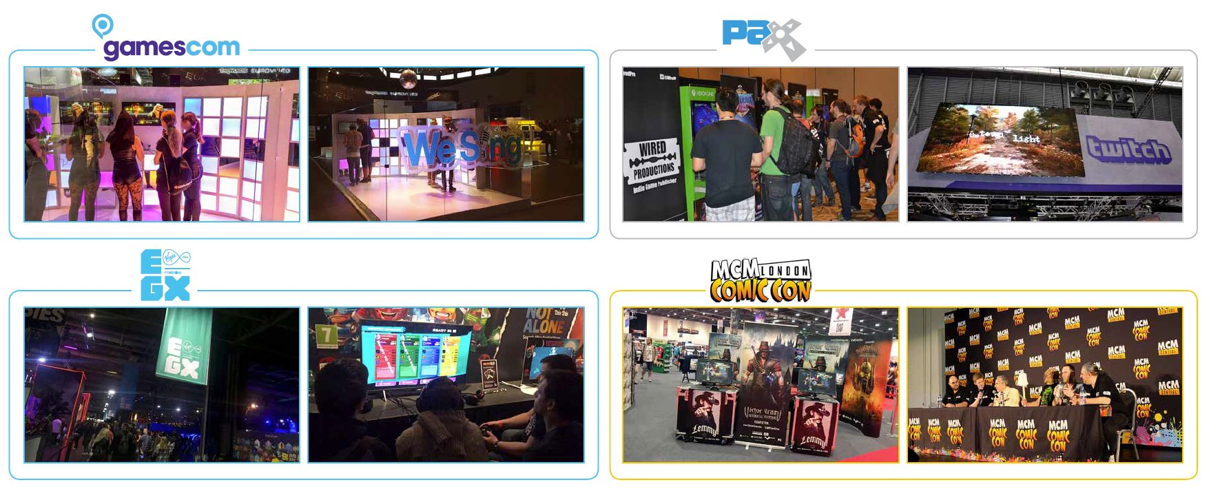 Image of Wired events such as Gamescom, PAX, EGX and MCM Comic Con