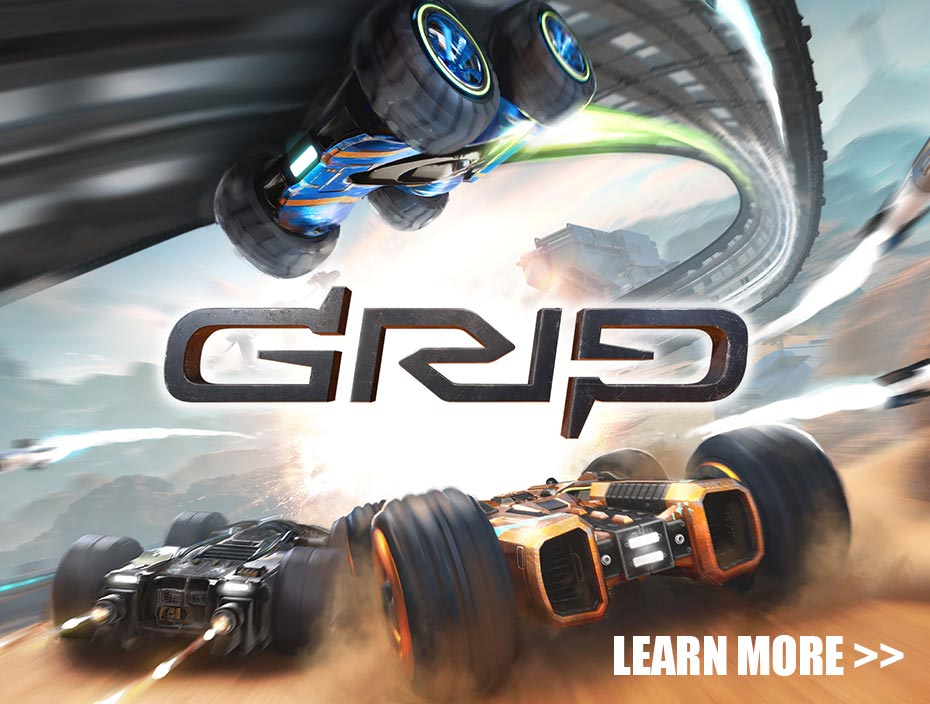 Image showing the key art for GRIP: Combat Racing